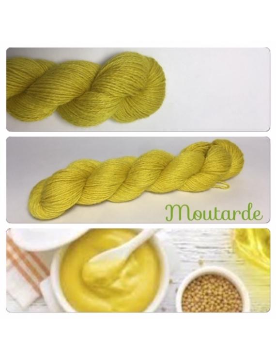 """""""Moutarde"""" Alpaga Merinos Ramie"""