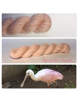 """""""Spatule Rosée"""" Alpaga Merinos Ramie"""