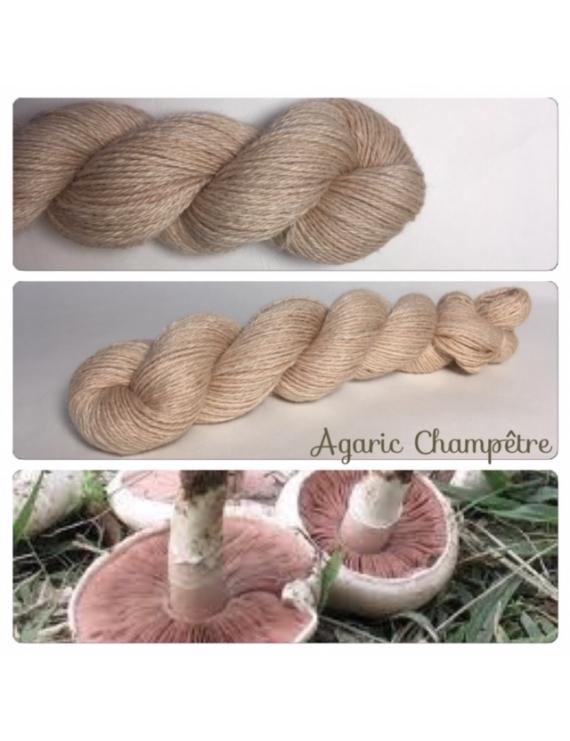 """Agaric Champêtre"" Alpaga Merinos Ramie"