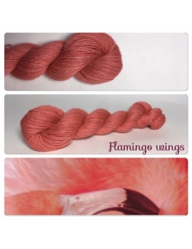 """Flamingo Wings"" Alpaga Merinos Ramie"
