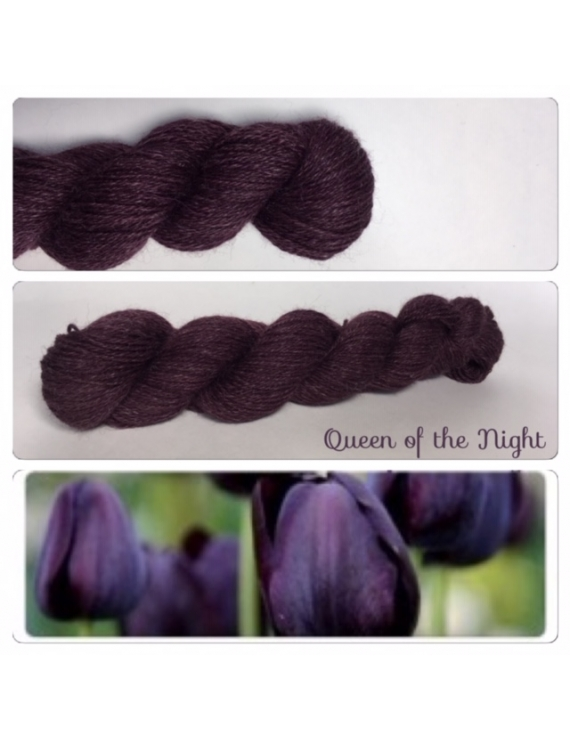 """Queen of the Night"" Alpaga Merinos Ramie"