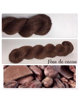 """""""Fève de Cacao"""" Alpaga Merinos Ramie"""