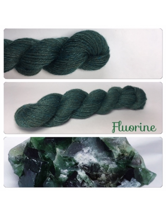 """""""Fluorine"""" Alpaga Merinos Ramie"""