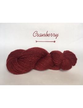 """Cranberry"" Fil DK Baby Alpaga/Ile de France"