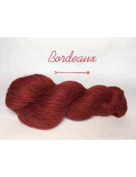"""Bordeaux"" Fil DK Baby Alpaga/Ile de France"