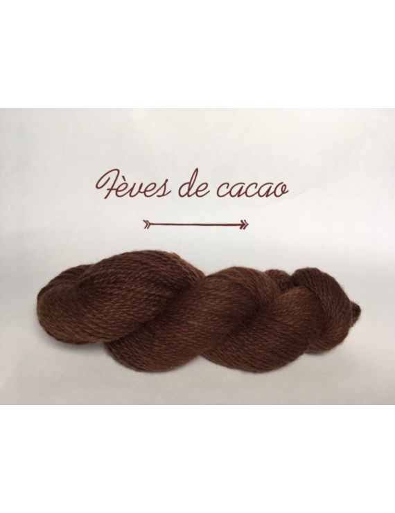 """Feve de Cacao"" Fil DK Baby Alpaga/Ile de France"