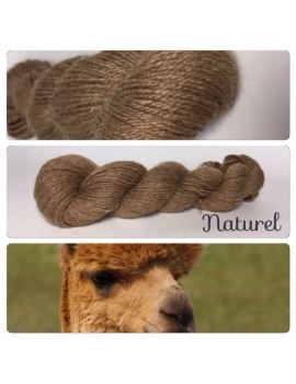 """Marron Naturel"" Alpaga Merinos Ramie"
