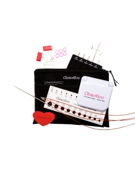 ChiaoGoo Twist Red Lace Interchangeable Knitting Needle Set Complete 4""
