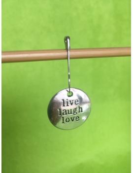 """""""Live  Laugh Love"""" Anneau marqueur"""