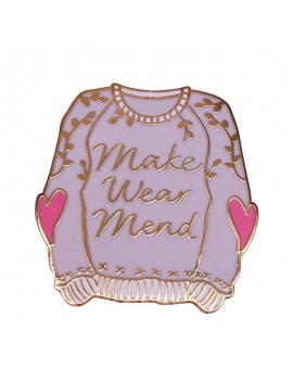 """Makers Wear Mend"" Pins"