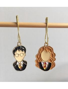 """""""Harry et Hermione"""" Anneaux marqueurs Harry Potter"""