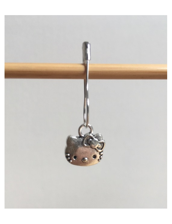 """Hello Kitty Face"" Stitch Marker"