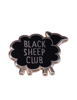 """Black Sheep Clubl"" Pins"