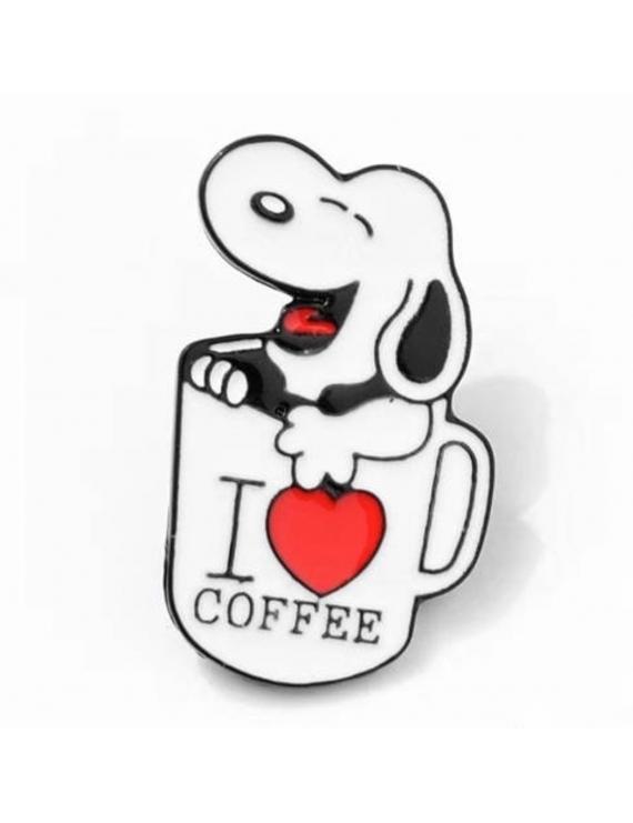 """Snoopy I Love Coffee"" Pins"