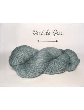 """Vert de Gris"" Fil DK Baby Alpaga/Ile de France"