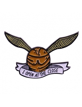 """Vif d'or I Open at the Close"" Pins inspiration Harry Potter"