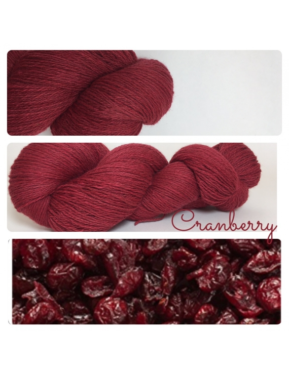 """Cranberry"" Fil Fingering 50% Baby Alpaga 50% Merinos"