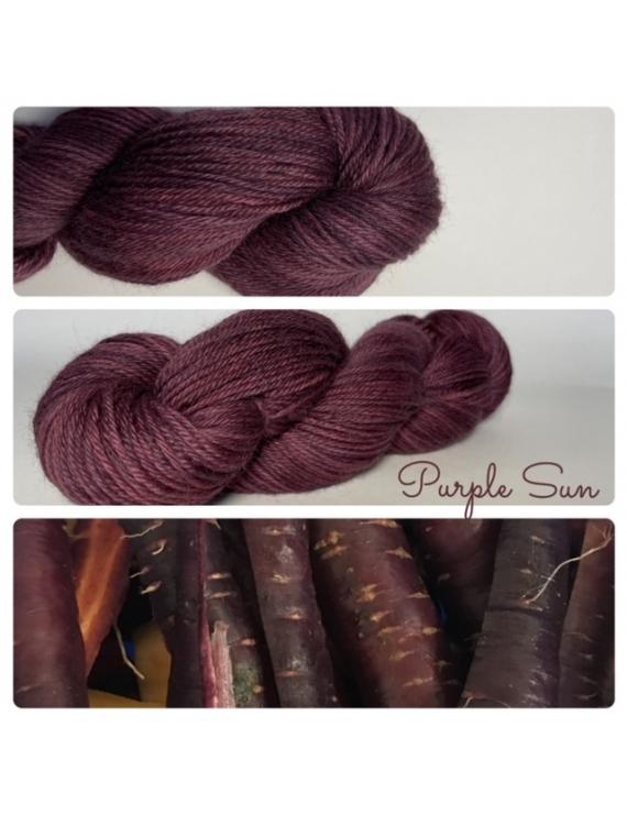 """Purple Sun "" Fil DK 100% Baby Alpaga"
