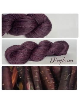 """Purple Sun"" Fil fingering Baby Alpaga & Soie"