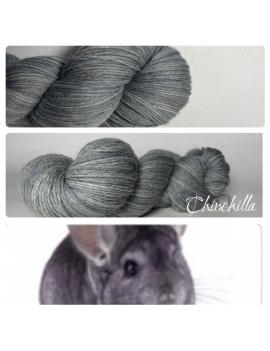 """Chinchilla"" Fil Mérinos Alpaga & Nylon"