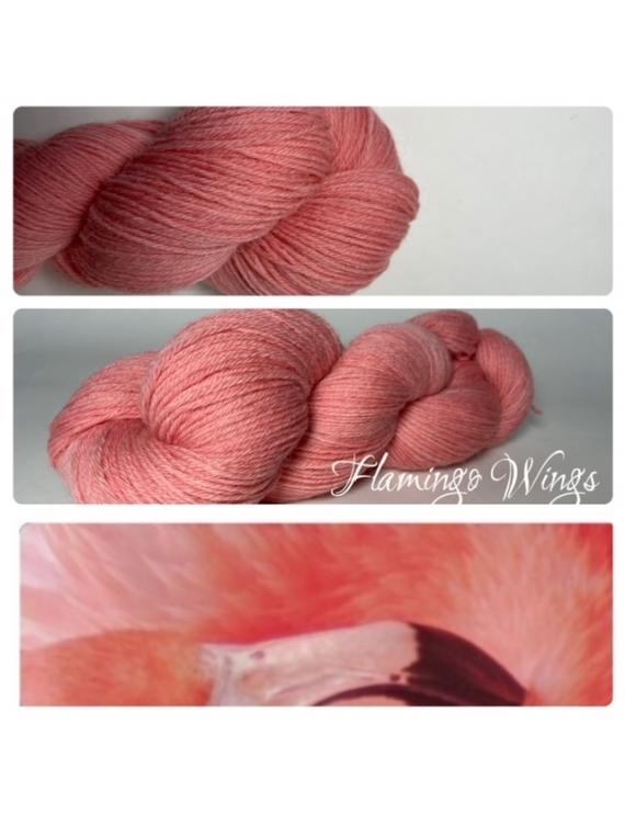 """""""Flamingo Wings"""" Fil Mérinos Alpaga & Nylon"""