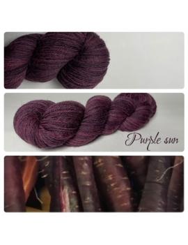 """Purple Sun"" Fil Mérinos Alpaga & Nylon"