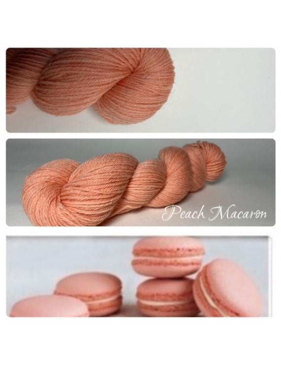 """""""Peach Macaron"""" Fil Mérinos Alpaga & Nylon"""
