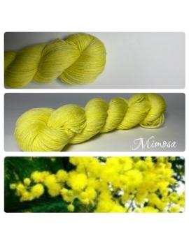 """Mimosa"" Fil Mérinos Alpaga & Nylon"