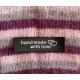 """Hand Made With Love"" Etiquette Decorative Tissus Noir longue"